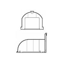 Horizontální odvod - nástavec s vysokým profilem