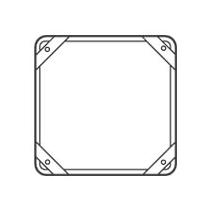 DPU 250 (vymezovací rám pro montáž na tenkou stěnu)